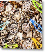 Bmx Pebble Race Metal Print