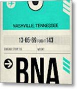 Bna Nashville Luggage Tag II Metal Print