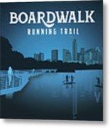 Boardwalk Running Trail Metal Print