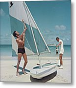Boating In Antigua Metal Print