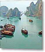 Boats Of Halong Bay Metal Print