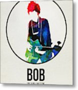 Bob Dylan Watercolor Metal Print