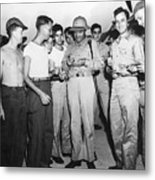 Bob Hope Signing Autograph For Soldiers Metal Print