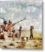 Bofors, Desert War, Wwii Metal Print