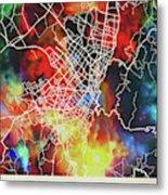Bogota Colombia Watercolor City Street Map Metal Print