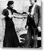 Bonnie And Clyde Metal Print