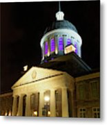 Bonsecours Market At Night In Old Montreal Metal Print