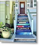 Book Stairs House Metal Print