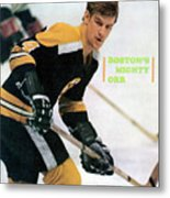 Boston Bruins Bobby Orr, 1970 Nhl Eastern Division Sports Illustrated Cover Metal Print