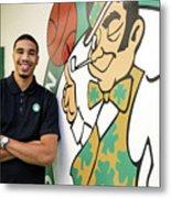 Boston Celtics Introduce Jayson Tatum Metal Print