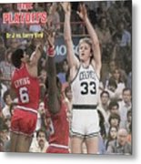 Boston Celtics Larry Bird, 1980 Nba Eastern Conference Sports Illustrated Cover Metal Print