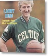 Boston Celtics Larry Bird, 1981 Nba Preview Sports Illustrated Cover Metal Print
