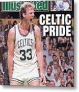 Boston Celtics Larry Bird, 1987 Nba Eastern Conference Sports Illustrated Cover Metal Print