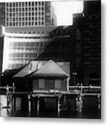 Boston Fort Point Channel Contrast Metal Print