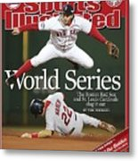 Boston Red Sox Mark Bellhorn, 2004 World Series Sports Illustrated Cover Metal Print