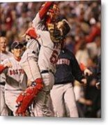 Boston Red Sox V Colorado Rockies Metal Print