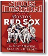 Boston Red Sox Vs St. Louis Cardinals, 2004 World Series Sports Illustrated Cover Metal Print