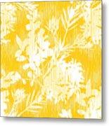 Botanical Silhouette Pattern Seamless Metal Print