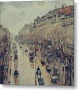 Boulevard Montmartre - Afternoon, In The Rain, 1897 Metal Print