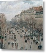 Boulevard Montmartre - Afternoon, Sunlight, 1897 Metal Print