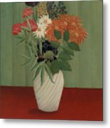 Bouquet Of Flowers With China Asters And Tokyos, 1910 Metal Print