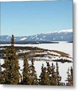 Bove Island On Windy Arm In Tagish Lake Yukon Metal Print