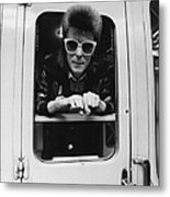 Bowie On The Rails Metal Print