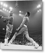 Boxer Ali Dodging A Punch From Frazier Metal Print