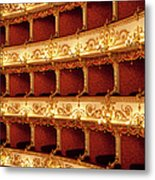 Boxes Of Italian Antique Theater Metal Print