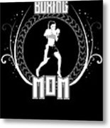 Boxing Mom Combat Sport Martial Arts Training Metal Print