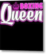 Boxing Queen Combat Martial Arts Training Metal Print