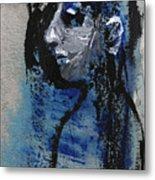 Boy In Blue Metal Print