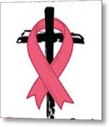 Breast Cancer Awareness Art Christian Women Light Metal Print