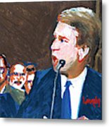 Brett Kavanaugh Testifies Before Senate Metal Print