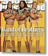 Brian Cushing, Rey Maualuga, And Clay Matthews, 2009 Nfl Sports Illustrated Cover Metal Print