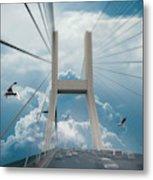 Bridge In The Clouds Metal Print