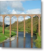 bridge over river Tweed near Melrose towards Gattonside Metal Print