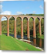 bridge over river Tweed near Melrose Metal Print