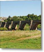 bridge over river Tyne at Corbridge in summer Metal Print