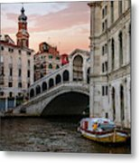 Bridges Of Venice - Rialto Metal Print
