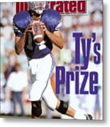 Brigham Young University Qb Ty Detmer Sports Illustrated Cover Metal Print