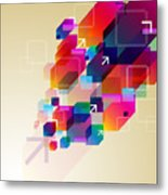 Bright Abstract Background Metal Print