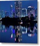Bright Blue Hour In Austin Metal Print