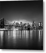 Bright Lights Of New York Metal Print