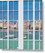 Brilliant Bermuda Cityscape Windows Metal Print