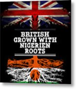 British Grown With Nigerien Roots Metal Print