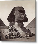 British Soldiers At The Sphinx Metal Print