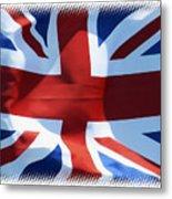 British Union Jack Flag T-shirt Metal Print