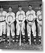 Brooklyn Dodgers Outfielders L. To R Metal Print