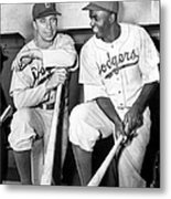 Brooklyn Dodgers Pee Wee Reese And Metal Print